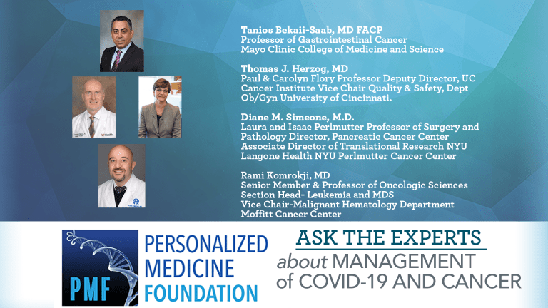 Ask The Experts About COVID-19 and Cancer