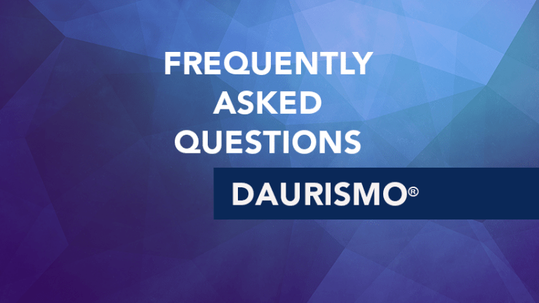 Frequently Asked Questions about Daurismo® (glasdegib)