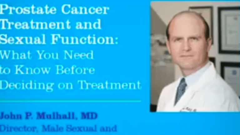 Prostate Cancer Treatment and Sexual Function: What You Need to Know
