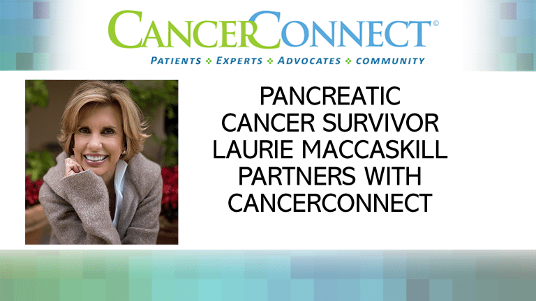 Laurie MacCaskill Partners with CancerConnect