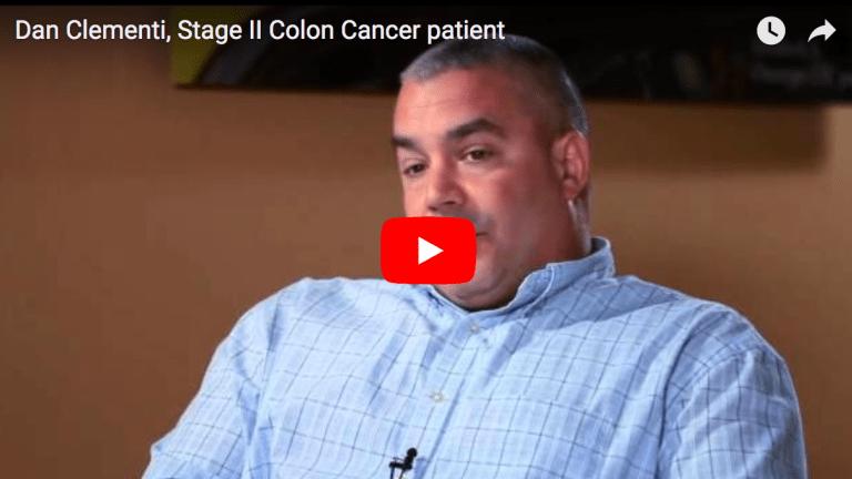 Dan Clementi, Stage II Colon Cancer patient