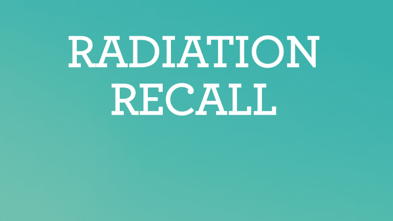Radiation Recall Overview